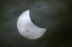 Solar Eclipse with Sunspot