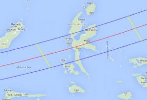 Total Eclipse Path - Maluku