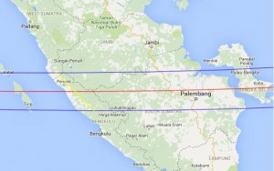 Total Eclipse Path - South Sumatra